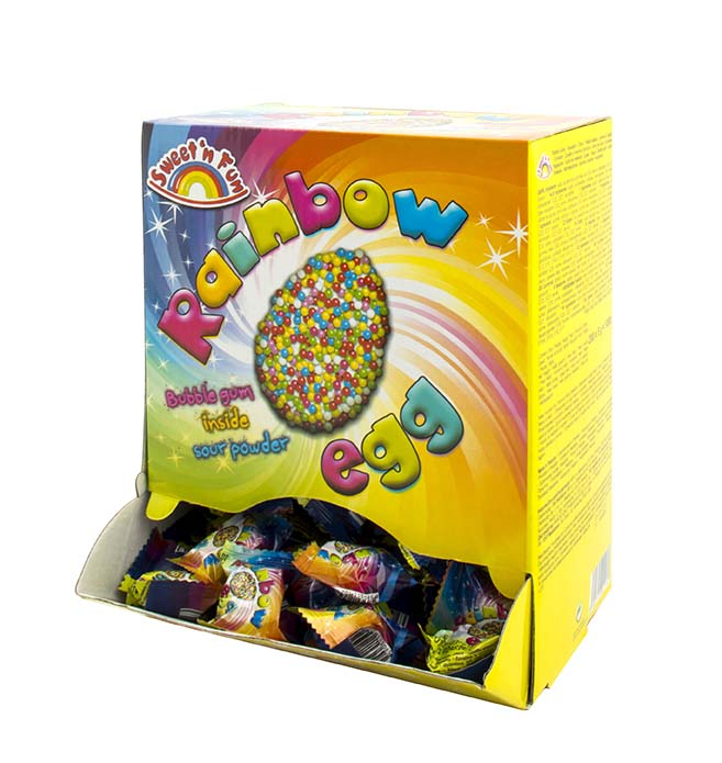 Rainbow Bubble Egg žuvačky 5g