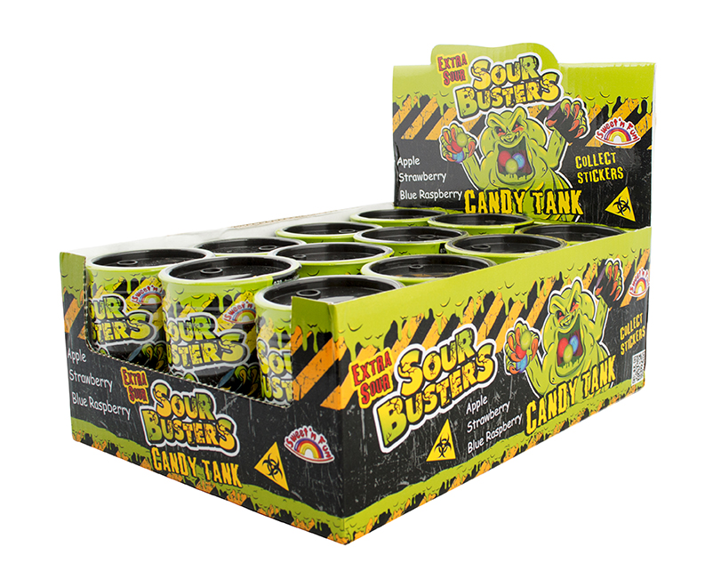 Sour Busters Candy Tank s cukr.30g